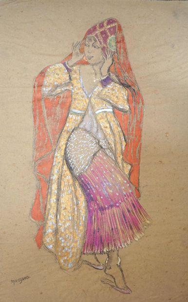 Georges MANZANA-PISSARRO (1871-1961) Danseuse...