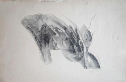Rose ADLER (1890-1959) Vises de femmes. Lithographie...