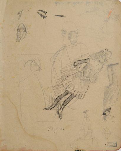 Jules PASCIN (1885-1930) Etude de visages...