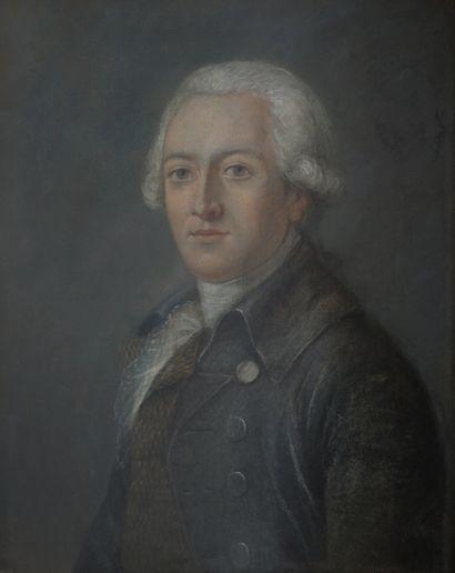 Ecole française XIXème. Homme de qualité....
