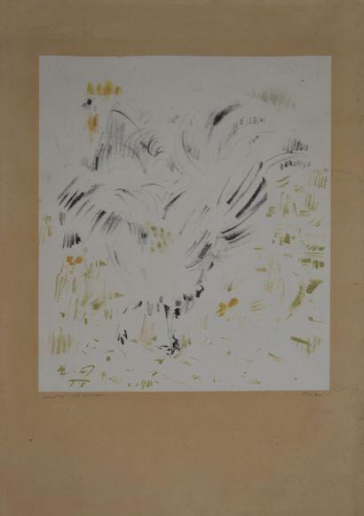 André MASSON (1896-1987) Coq. Lithographie...