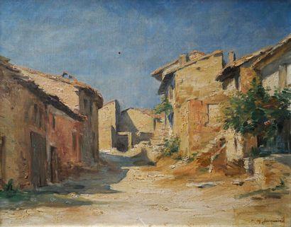 Henry JACQUIER (1878-1921) Village méditerranéen....