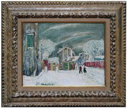 Elisée MACLET (1881-1962) Montmartre sous...