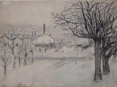 Maurice UTRILLO (1883-1955) Paysage, la butte...
