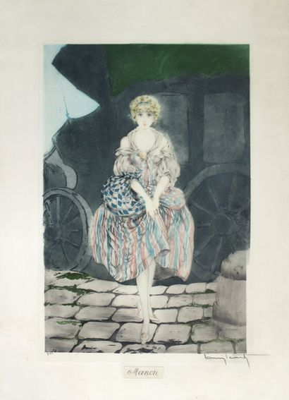 Louis ICART (1888-1950) Manon. Pointe sèche...