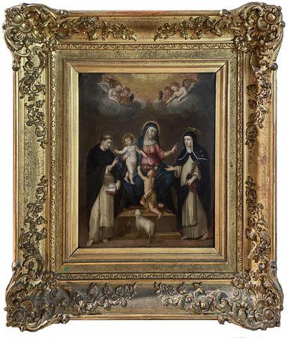 *Ecole XVIIIe. Notre Dame du Rosaire, Marie...