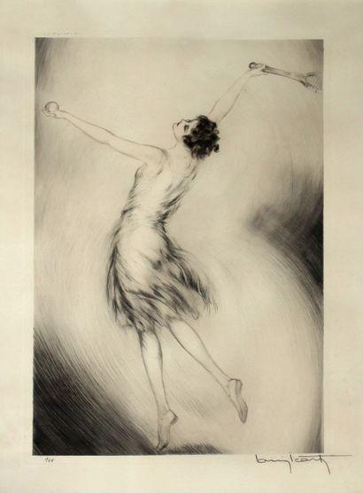 Louis ICART (1888-1950) La joueuse de tennis....