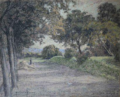 Pierre Ernest PRINS (1838-1913) Promeneuse,...