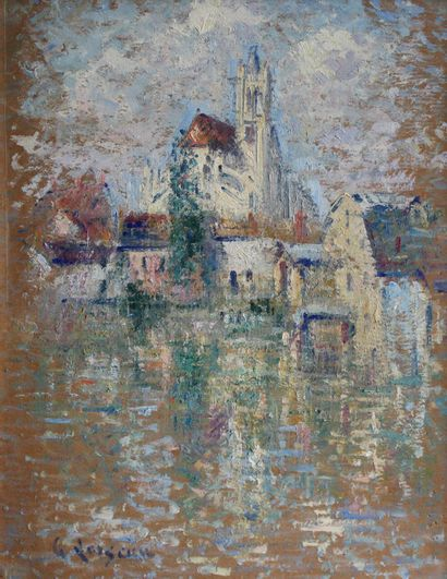 Gustave LOISEAU (1865-1935) Moret-sur-Loing....