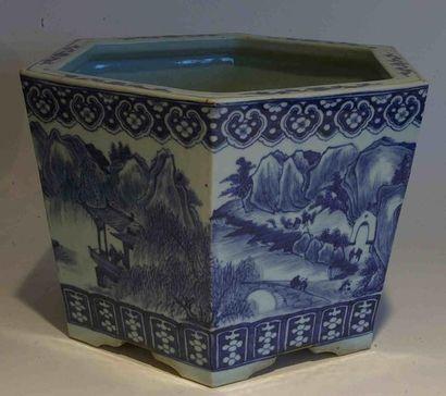 CACHE-POT en porcelaine de type