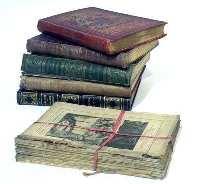 Jules Verne. Lot de six volumes dont quatre...