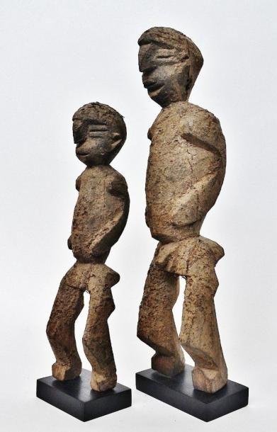 Important et grand couple Bateba Phuwe du...