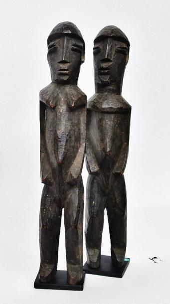 Couple ? Lobi - Burkina Faso Bois à patine...