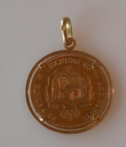 PIÈCE de 25 pesetas en or à l'effigie d'Alfonso...