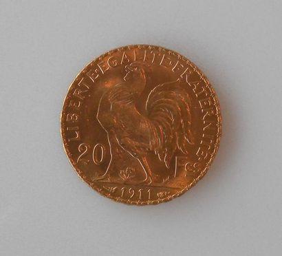 PIECE de 20 francs or 1911