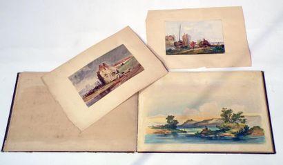Jules NOEL (1815-1881) Souvenirs de Bretagne,...