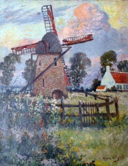 Eugène Henri A. CHIGOT (1860-1923) Le moulin...