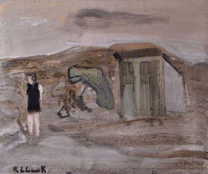 Roger DE CONINCK né en 1926. Sur la plage...