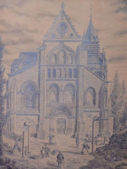 P. GILLET, XIXe. L'église de Taverny,1862....