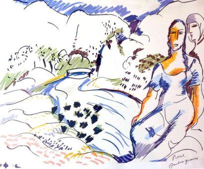 Pierre AMBROGIANI (1907-1985) Femmes dans...