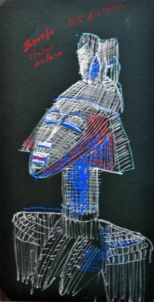 François ROUSSEAU, XXe-XXIe Statue du Poro...