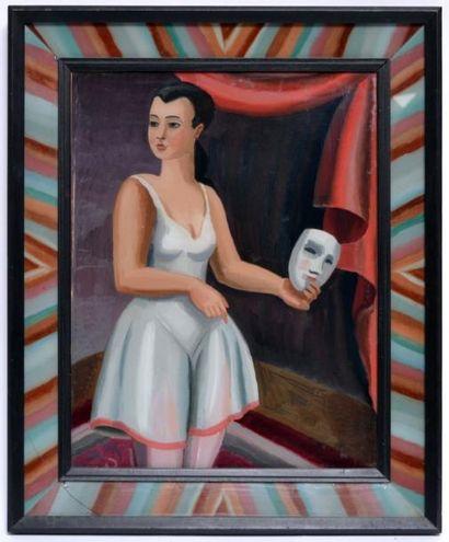 Henry BISCHOFF (1882-1951) Danseuse au masque....