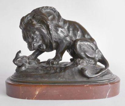 Antoine Louis BARYE (1796-1875). Lion au...