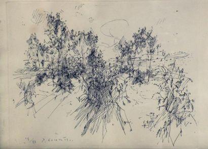 Jean COMMERE (1920-1986). Paysage valonné....