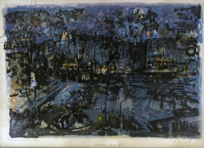 Jean COMMERE (1920-1986). Place Pigalle la...