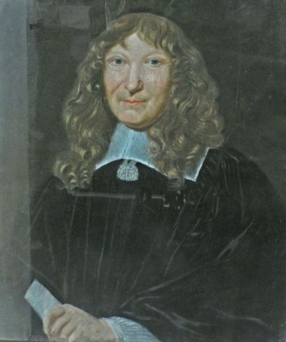 Ecole du XVIIIe. Portrait d'homme. Pastel....