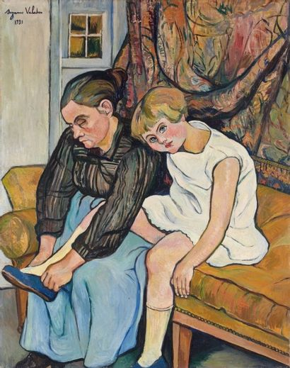 Suzanne VALADON (1865-1938). Grand-mère chaussant...