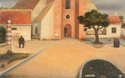 René RIMBERT (1896-1991). Petit paysage ensoleillé,...