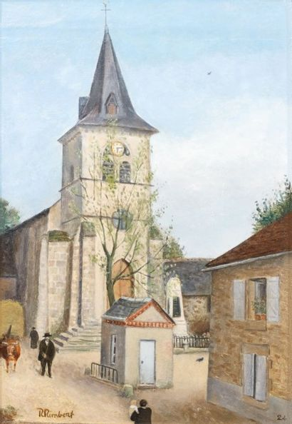 René RIMBERT (1896-1991). L'église de Perpezac-le-...