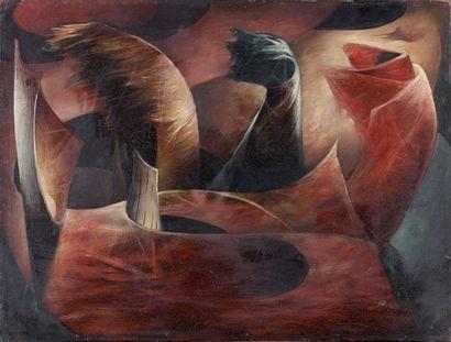 Henri GOETZ (1909-1989). Goûts frivoles, 1946. Huile sur panneau signé et daté en...