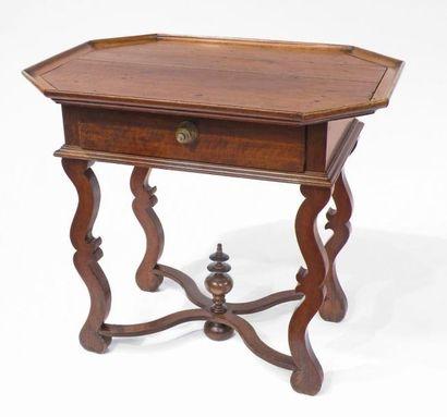TABLE cabaret en bois naturel, le plateau...