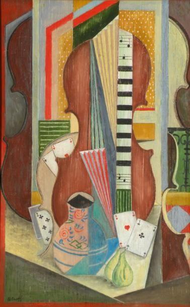 PETROFF (1954). Nature morte au violon et...