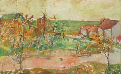 Jean COMMERE (1920-1986). Paysage de Corse....