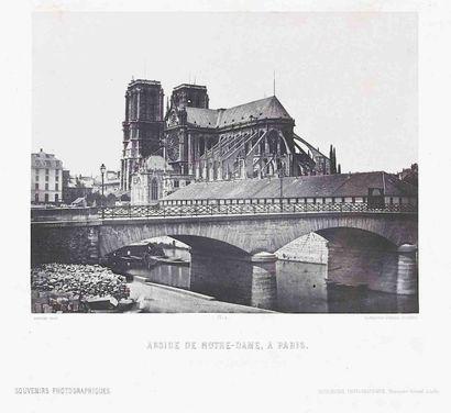 Alphonse FORTIER (1825-1882). Abside de Notre-Dame...