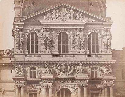 Édouard-Denis BALDUS (1813-1889). Le Louvre,...