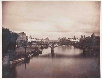 Gustave LE GRAY (1820-1884). Pont du Carrousel...