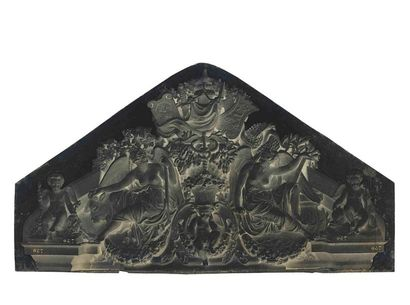Édouard-Denis BALDUS (1813-1889). Réunion des Tuileries au Louvre : détails d'architectures...