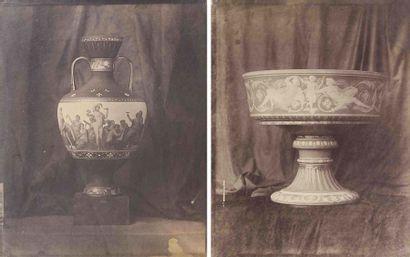 Louis-Rémy ROBERT (1811-1882). Vases de Sèvres...