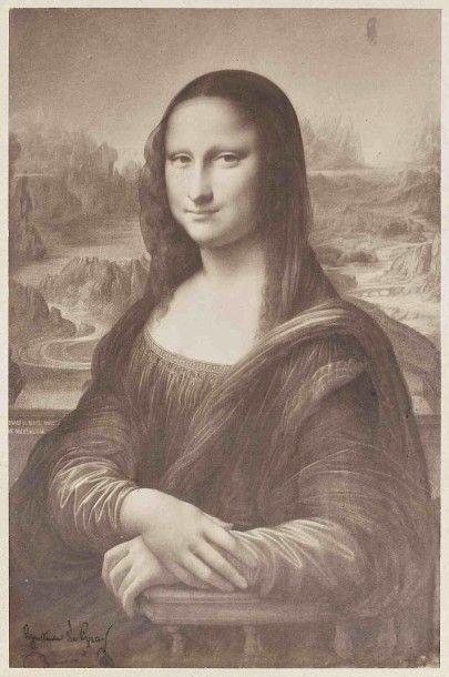 Gustave LE GRAY (1820-1884). La Joconde,...