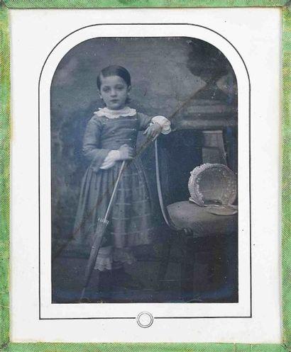 Louis-Auguste BISSON (1814-1876). Fillette...