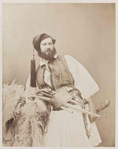 Gustave LE GRAY (1820-1884). Portrait d'homme...