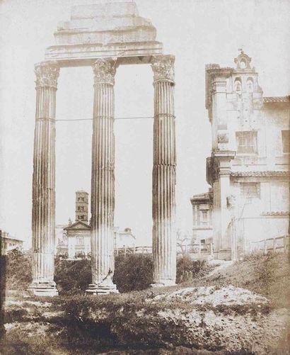 [ITALIE]. Restes du temple des Dioscures...
