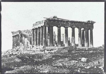 Eugène PIOT (1812-1890). Le Parthénon. Athènes....