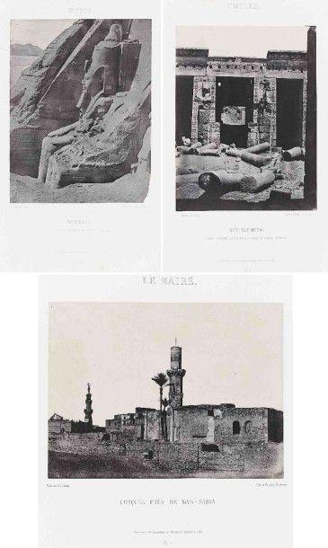Maxime DU CAMP (1822-1894). Égypte, Nubie,...
