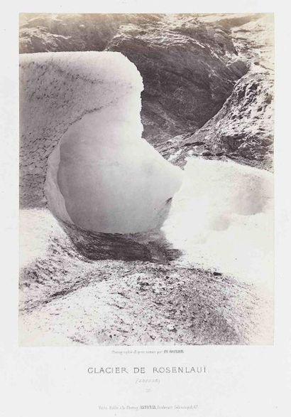 Charles SOULIER (1840-1876). Glacier de Rosenlaüi...