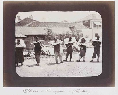 William SAUNDERS (1832-1892). Chinois à la...